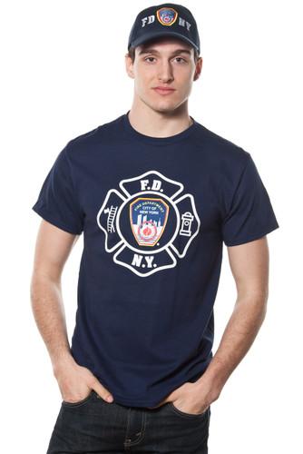 FDNY Adult Navy Emblem Print Tee