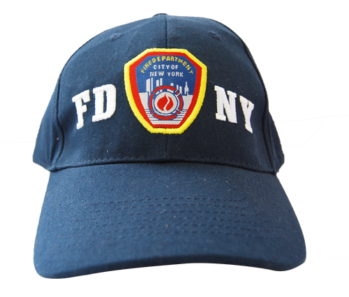 FDNY Adults Navy Hat with Embroidered Emblem Design