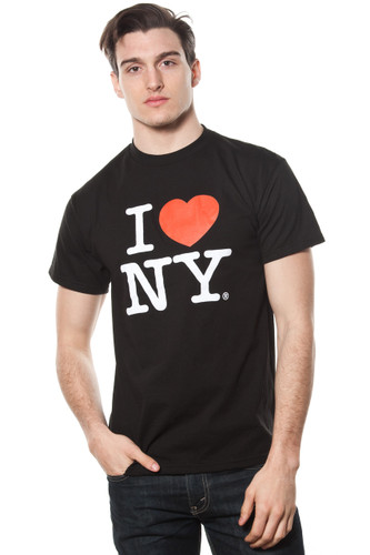 Mens I LOVE NY Short Sleeve T-Shirt Black