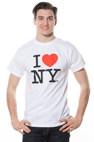 Mens I LOVE NY Short Sleeve T-Shirt White