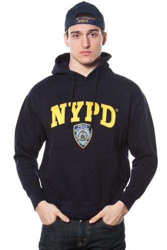 Adult NYPD Navy Pullover Hoodie with Embroidered Chest