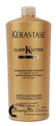 Kerastase Bain Elixir Ultime Sublime Cleansing Oil Shampoo 34 oz