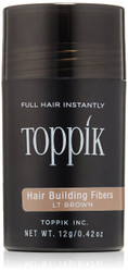 TOPPIK Hair Building Fibers, Light Brown, 0.42 oz.