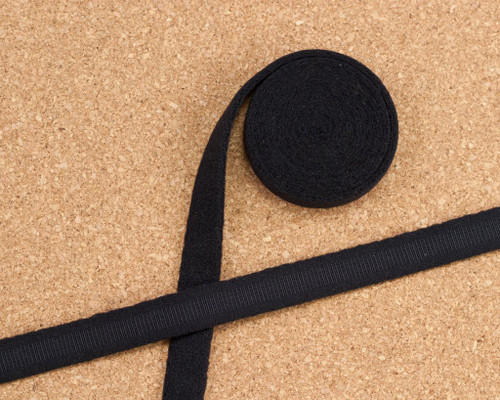 """3/8"""" wide Black Plush Underwire Channeling for Bra Making By The Yard"""