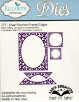 Karen Burniston Retired Pop It Ups by Elizabeth Crafts - Oval Flourish Frame Edges 777