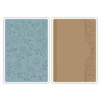 Sizzix Texture Impressions Embossing Folders - Flowers & Frames Set 658968