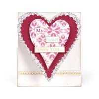 Sizzix Bigz L Die - Mini Heart Card 658478