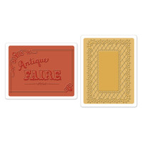 Sizzix Textured Impressions Embossing Folders - Antique Faire & Lace Set 658470