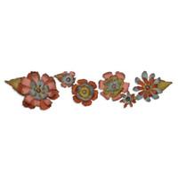 Sizzix Sizzlits Decorative Strip Tim Holtz - Tatterd Flower Garden 657824