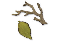 Sizzix Movers & Shapers Magnetic Die Tim Holtz - Mini Branch & Leaf Set 657208