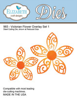 Elizabeth Craft Design Die  - Victorian Flower Overlay 1 - 965
