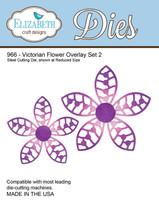 Elizabeth Craft Design Die  - Victorian Flower Overlay 2 - 966