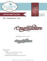 Elizabeth Craft Design Die - Quietfire Congratulations 1051