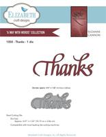 Elizabeth Craft Design Die - Quietfire Thanks 1058