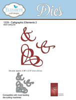 Elizabeth Craft Designs - Caliligraphic Elements 2 1229
