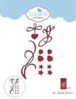 Elizabeth Craft Design Die - Calligraphic Elements 3 1434