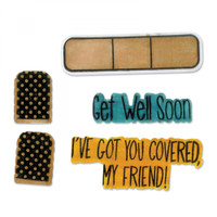 Sizzix Framelits Die Set w/ Stamps SB - Get Well Soon 662473