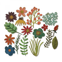 Sizzix Thinlits Die Set 17PK TH - Funky Floral #1 662700