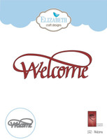 Elizabeth Craft Design Die - Welcome 1552