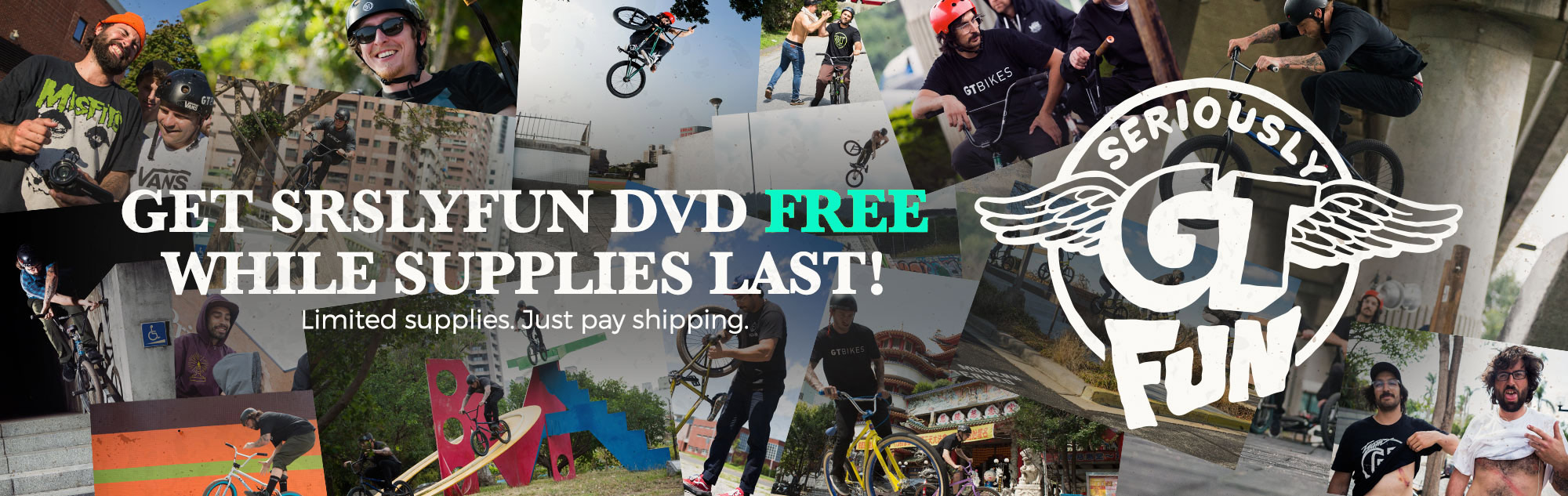 GT Bikes SRSLY FUN BMX DVD at Albe's BMX