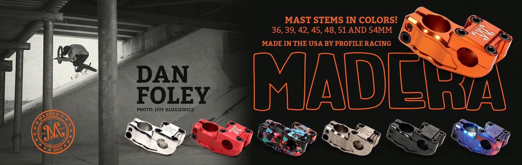Madera BMX Mast Stem available in many colors at Albe's BMX