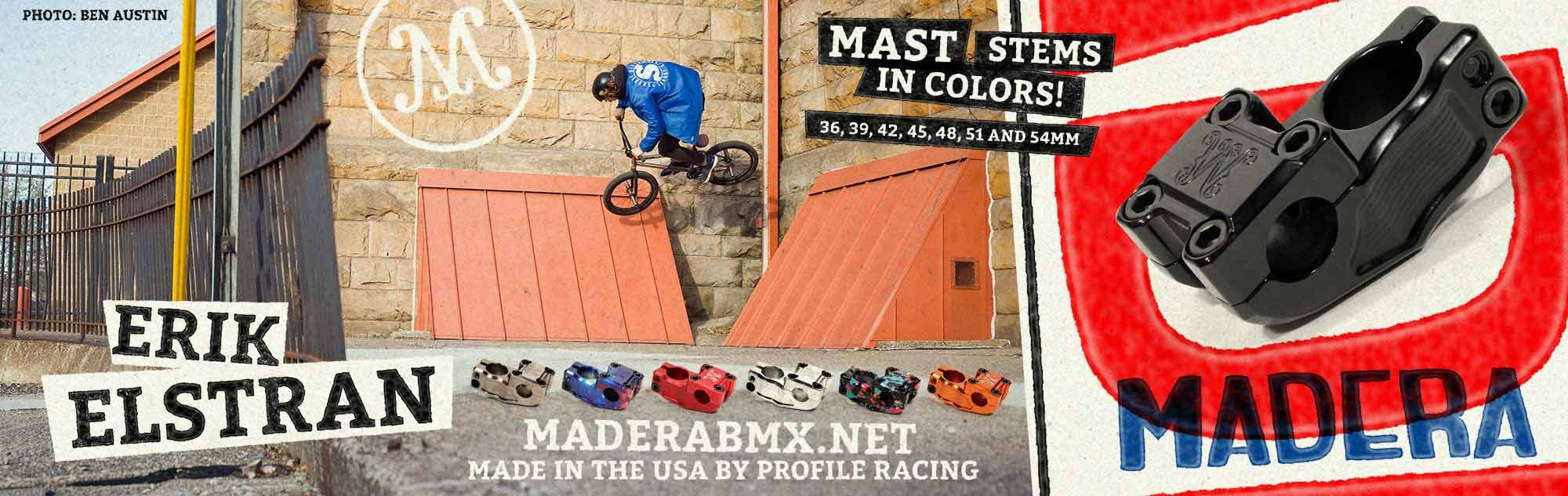 Madera Mast Stem available at Albe's BMX Bike Shop Online