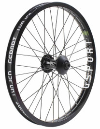 Gsport Elite V2 Front wheel in black at Albe's BMX Bike Shop Online