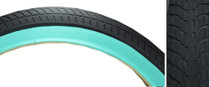 FIT F.A.F. TIRE teal sidewall