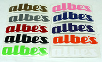 "ALBE'S ""UNI-BAL"" DIE CUT STICKER 5"""