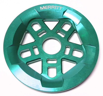 Merritt Pentaguard Sprocket in Teal at Albe's BMX
