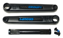 Haro BMX Lineage Group 1 Cranks in black at Albe's BMX