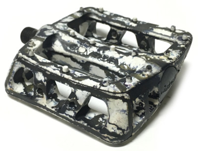 Odyssey BMX Twisted PC Pedals in Tie Dye Black at Albe's BMX