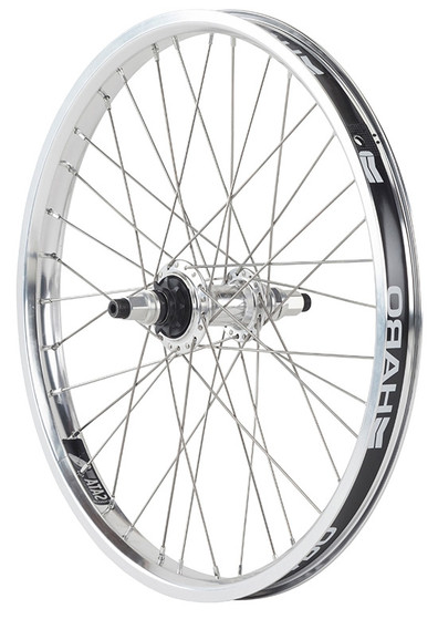 Haro BMX Sata Rear wheel in Polished at Albe's BMX