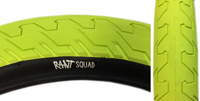 Rant Squad BMX Tire in Neon Yellow at Albe's BMX