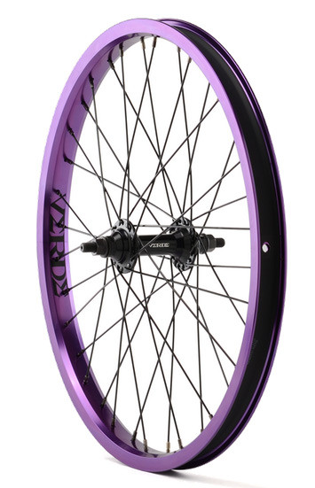 Verde Regent Front BMX Wheel in Purple at Albe's BMX Shop