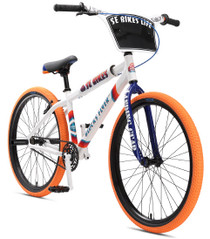 SE Bikes Blocks Flyer 26 inch BMX bike in White color at Albe's BMX Bike Shop