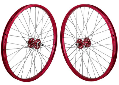 SE Racing 24 inch BMX Wheel Set in Red at Albe's BMX
