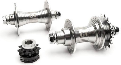 GT Superlace hubset in silver at Albe's BMX Bike Shop