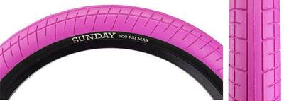 Sunday Street Sweeper Tire in Pink at Albe's BMX Bike Shop