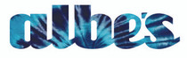 Albe's Uni-Print Vinyl Sticker in Blue Tie Dye at Albe's BMX Bike Shop