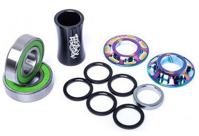 Total BMX Team Mid Bottom Bracket in Rainbow at Albe's BMX Bike Shop