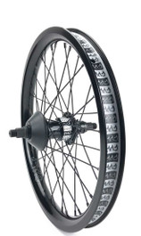 Cult Crew Aero 18 inch freecoaster wheel in black at Albe's BMX Bike Shop Online