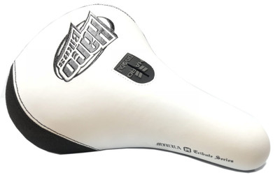 Haro Mirra Pivotal BMX Seat in White and Black at Albe's BMX Bike Shop Online