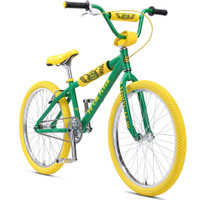SE SoCal Flyer 24 inch BMX Bike in Limited Edition Spring Green Color at Albe's BMX Bike Shop