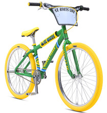 SE Bikes Blocks Flyer 26 inch bike in Limited Edition Spring Green at Albe's BMX Bike Shop Online.