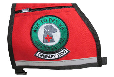 Ask To Pet Me, Therapy Dog Reflective Vest - Includes Ask To Pet Me Patch And Therapy Dog Rocker Patch - Reflective Strip
