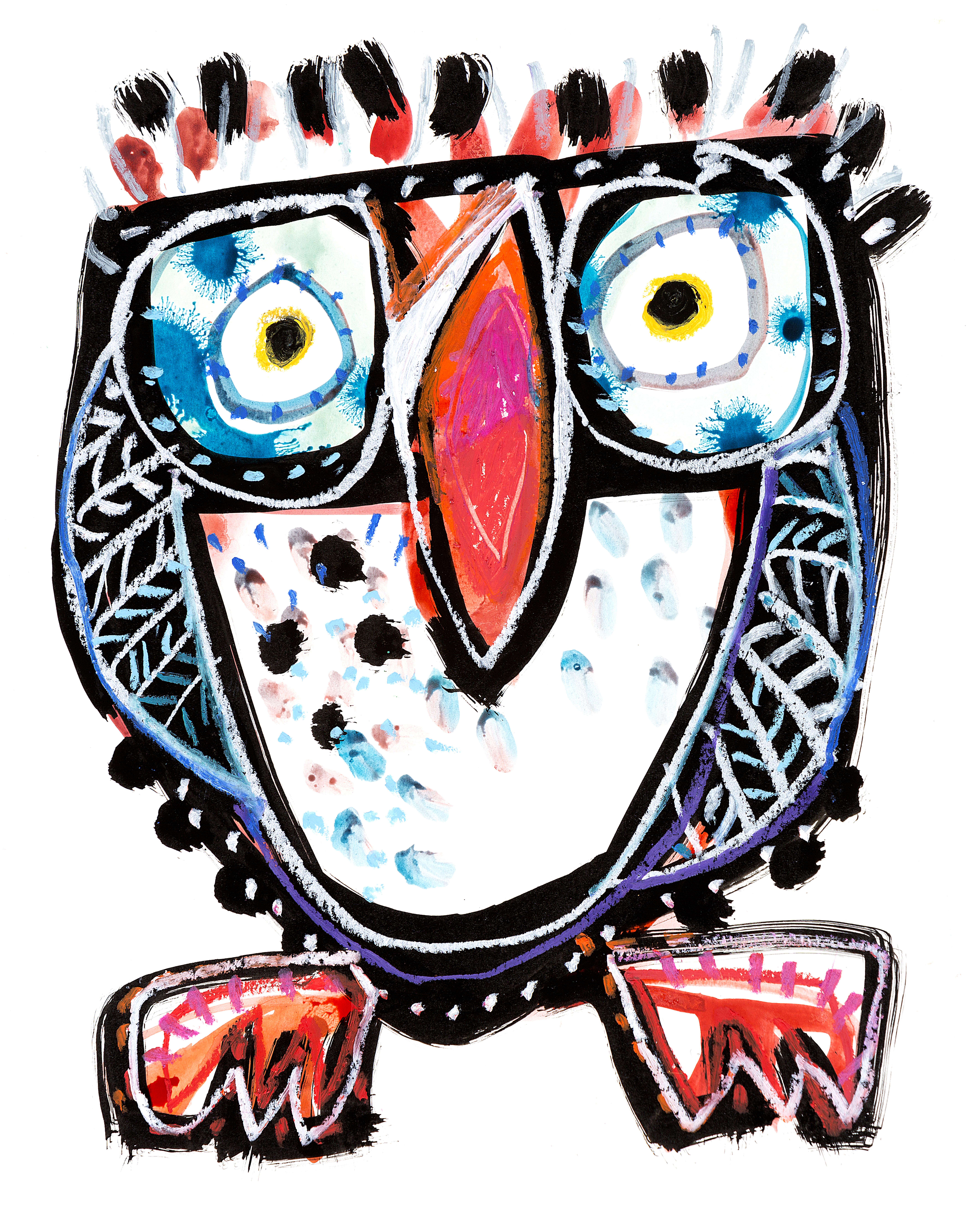 webnight-owl-a3-mixed-media-on-paper.jpg