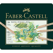 Faber Castell Pitt Pastel Pencils 24 Tin Set