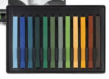 Conte A Paris  Flat Plastic Box Set Crayons - 12 Landscape Colours