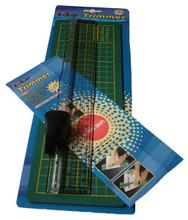 Ruler & Cutter plus Cutting Mat (35cm Mat)